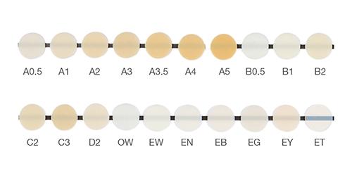 Mosaic shade guide